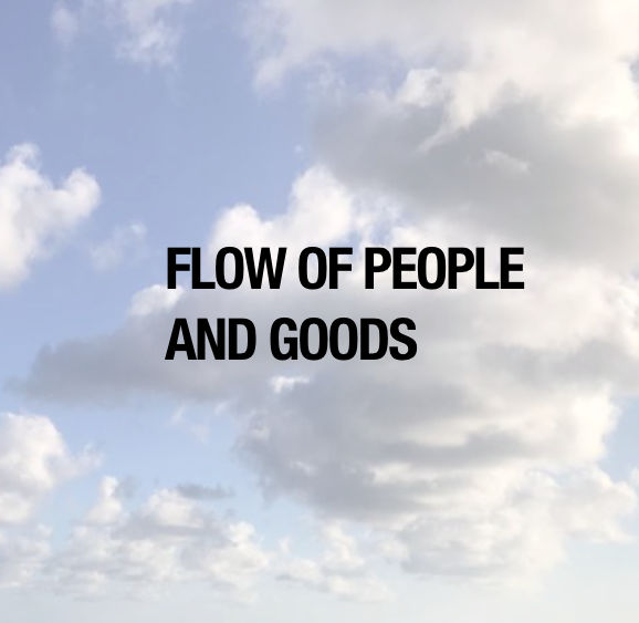 Button: Flow of People and Goods