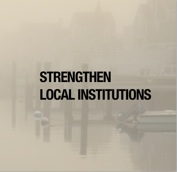 Button: Strengthen local institutions